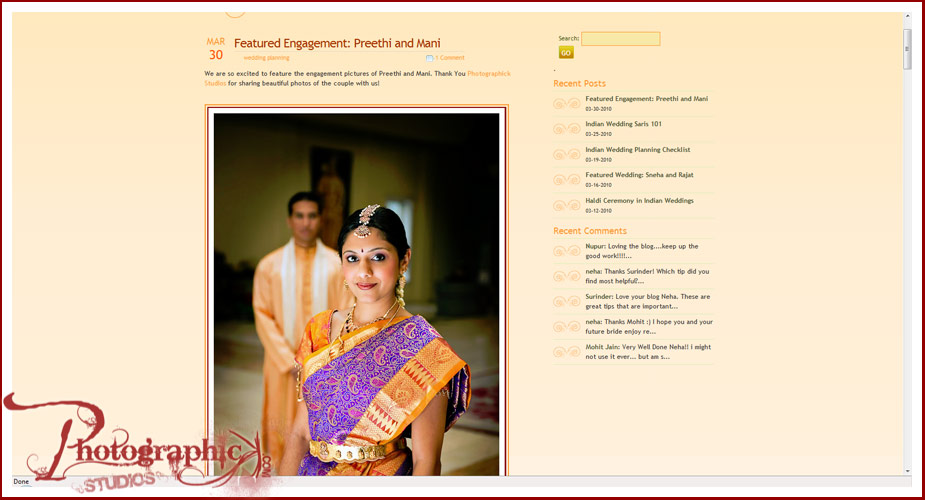 Preethi and Mani Published on Marigoldevents.com