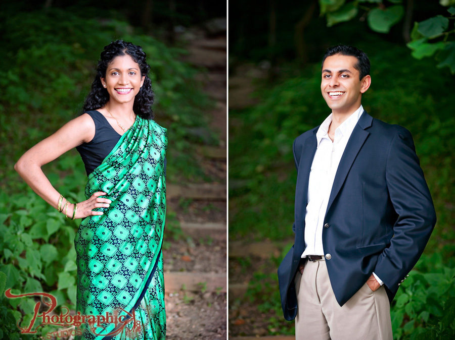Shanthi And Tayan Engagement Session At Great Falls in Maryland Photos