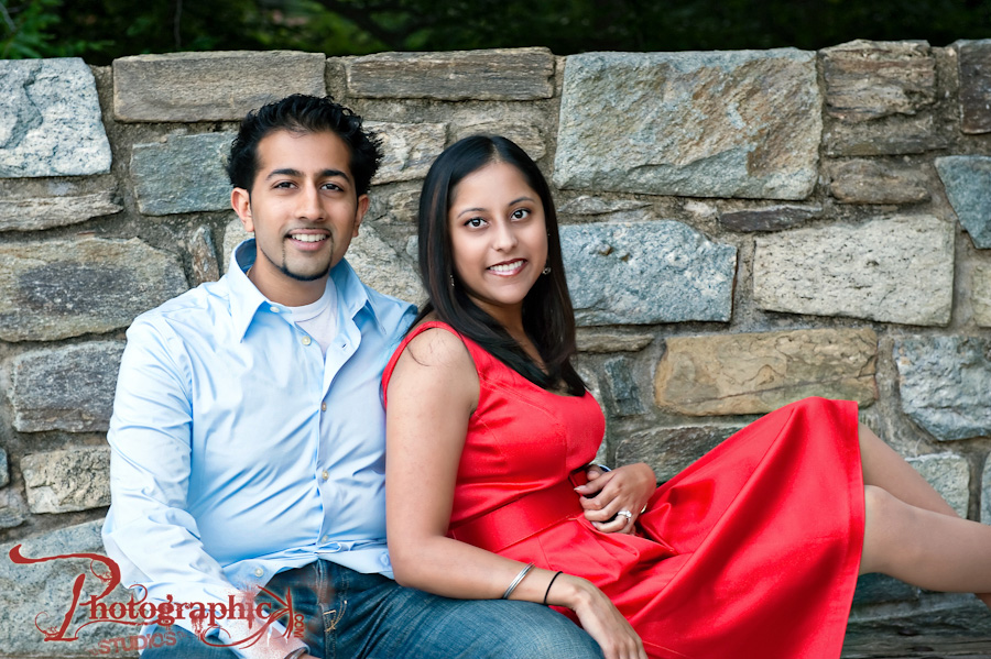 Vita and Samir's Engagement Session at Glen Echo Park and The University of Maryland Law School