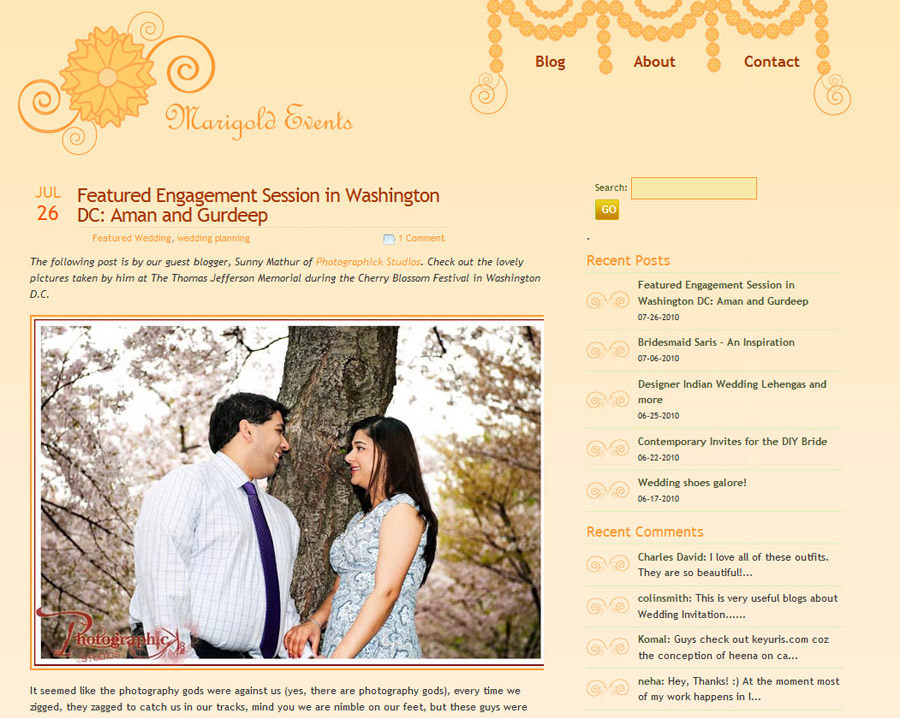Aman and Gurdeep Engagement Session at the Tidal Basin during the Cherry Blossom Festival Published