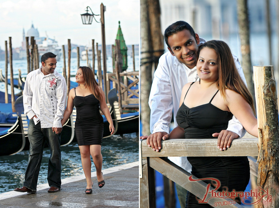 Neeva and Sunny Engagement Session in Venice, Italy