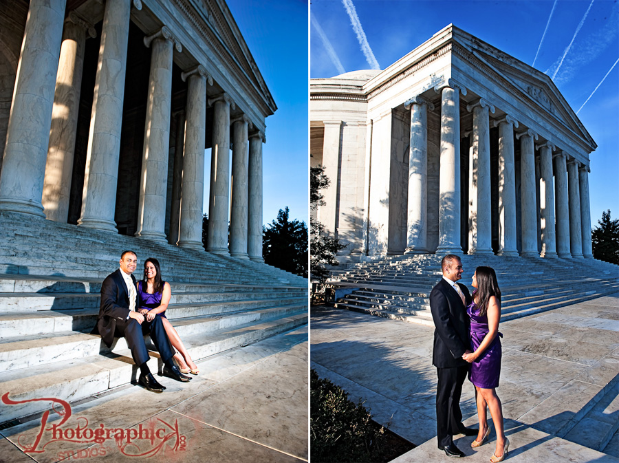 Jefferson Memorial and Georgetown Engagement Session