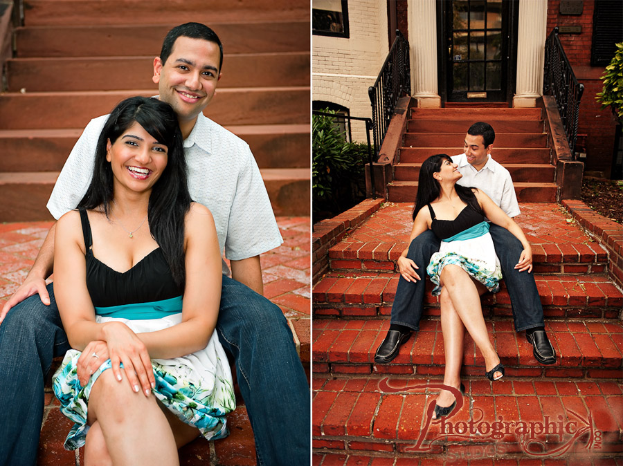 Dupont Circle Engagement Shoot of Karishma and Barath