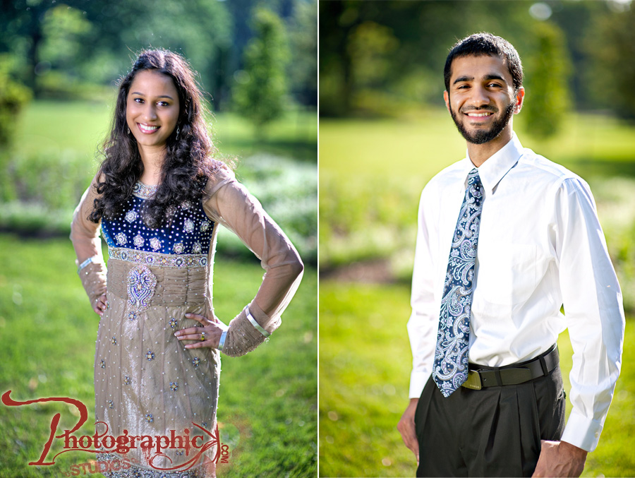 Baltimore Maryland Engagement Session of Saira and Shekeab around John Hopkins University
