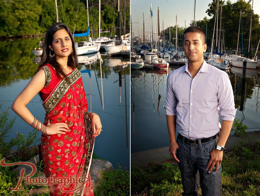 Alpa and Anil Engagement Shoot at Dyke Park in Alexandria, VA