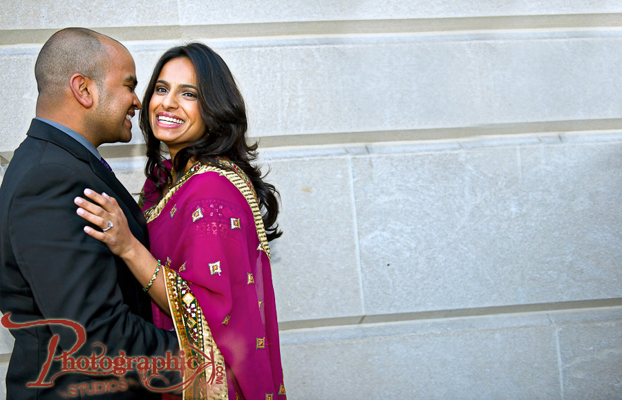 Washington DC engagement Shoot in Dupont Circle of Sonal and Roshan