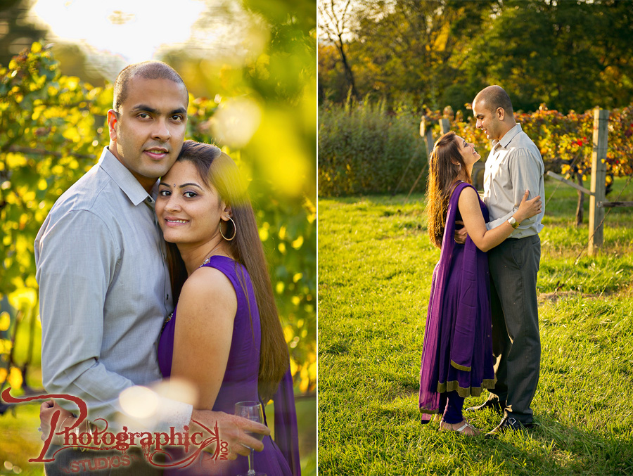 Leesburg Virginia Engagement Shoot at Winecroft Vineyards