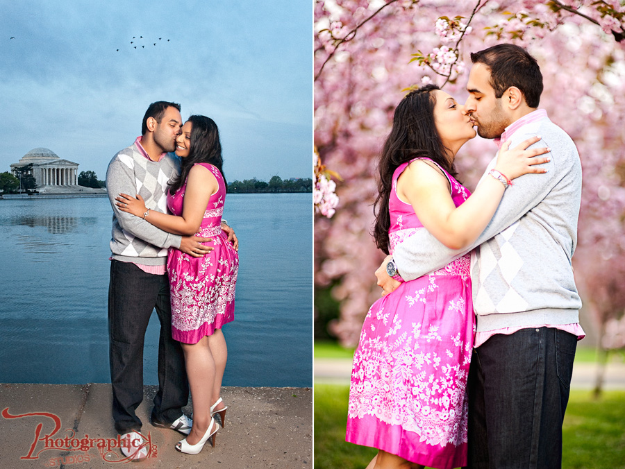 Cherry Blossom Engagement Session of Hetal and Divyang