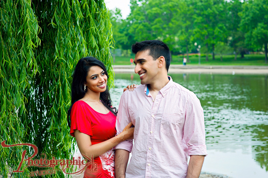 Lincoln Memorial Engagement Session of Shazia and Yasir