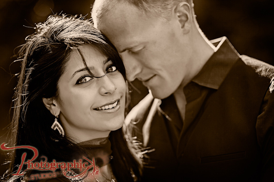 Mala and Alex Engagement Session at Brookside Gardens