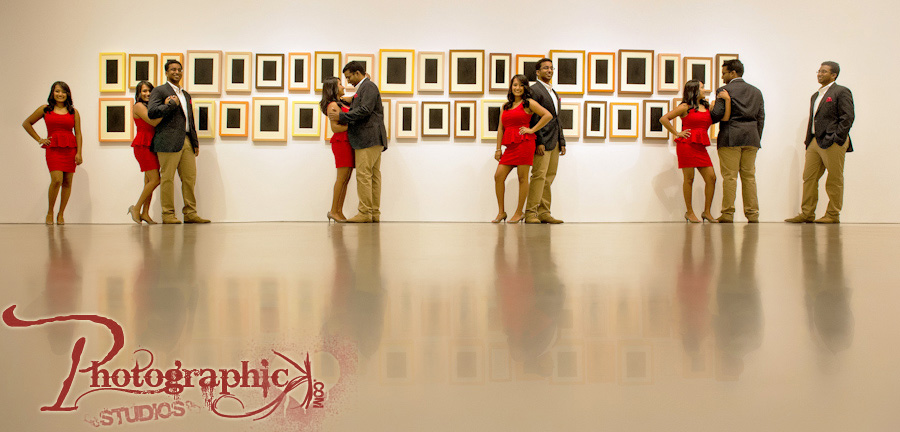 Hirshorn Museum Engagement Session of Divya and Anson