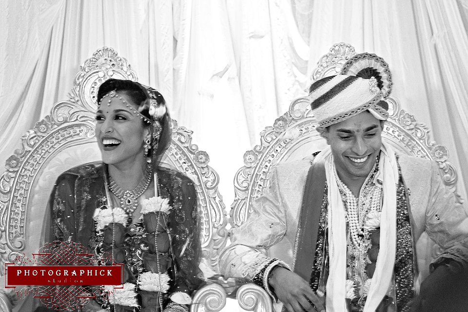 Black and White Indian Wedding