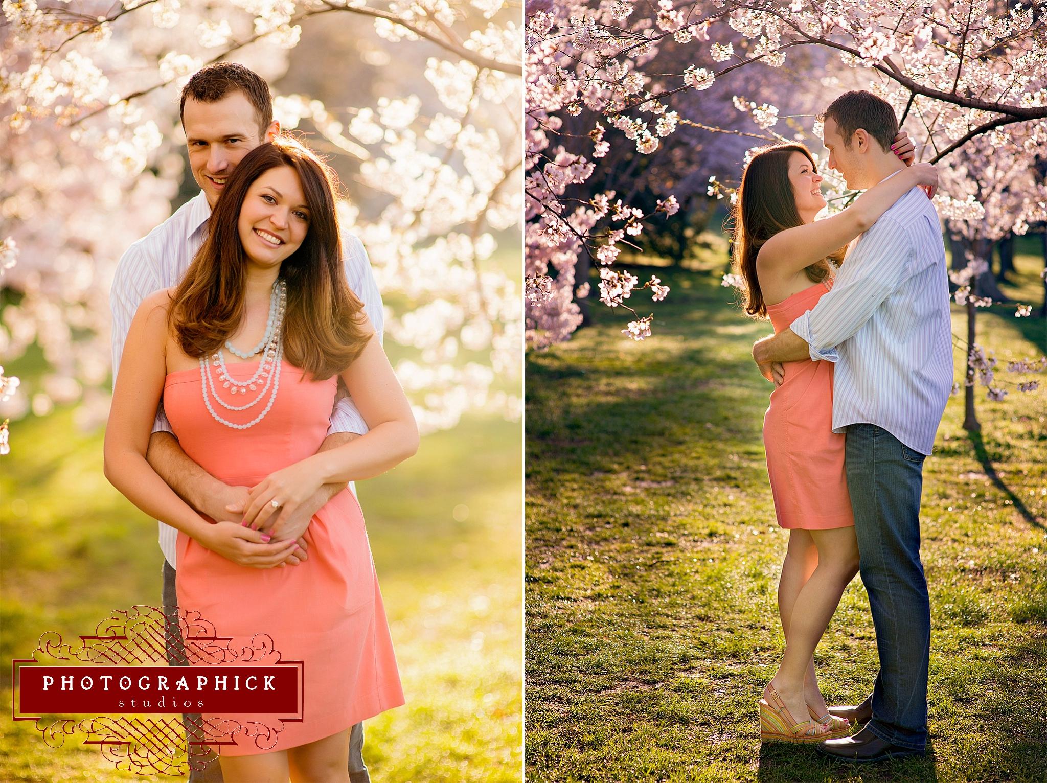 Washington DC Cherry Blossom Engagement Session