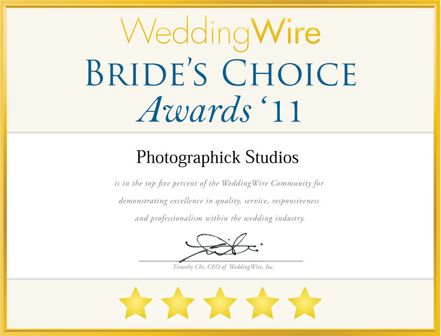 Brides Choice Awards for Photographick Studios
